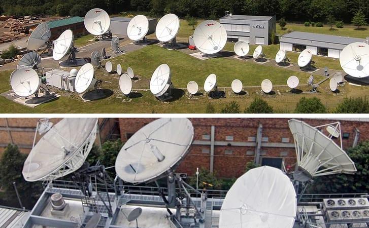 telepuertos internet satelita