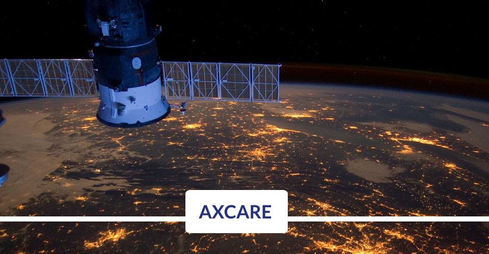 Axcare enlace satelital con administración inteligente de red
